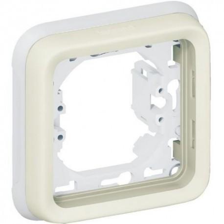 PLEXO - Support de plaque BLANC 1 poste - LEGRAND 069692