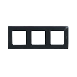 Plaque 3 postes Niloe - ONYX - 096721